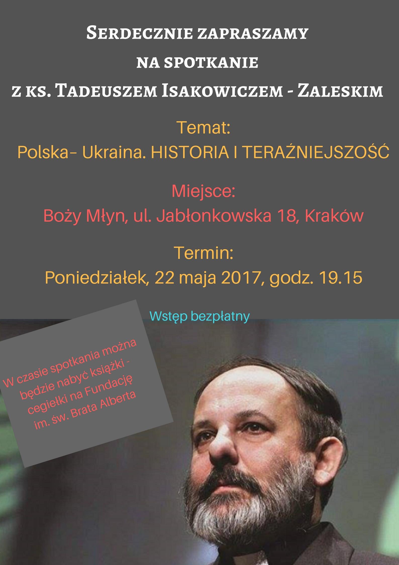 Spotkanie z ks. Tadeuszem Isakowiczem – Zaleskim